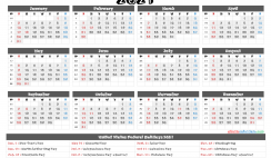 Printable Calendar 2021 with Holidays