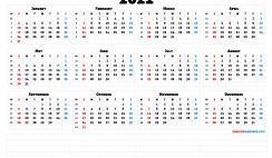 2021 12 Month Calendar Printable