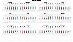 Printable 2021 Calendar with Week Numbers