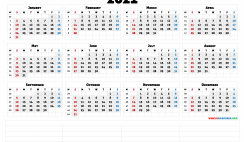 Downloadable 2021 Monthly Calendar