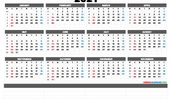 Free Downloadable 2021 Monthly Calendar