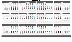 2021 Calendar with Week Numbers Printable