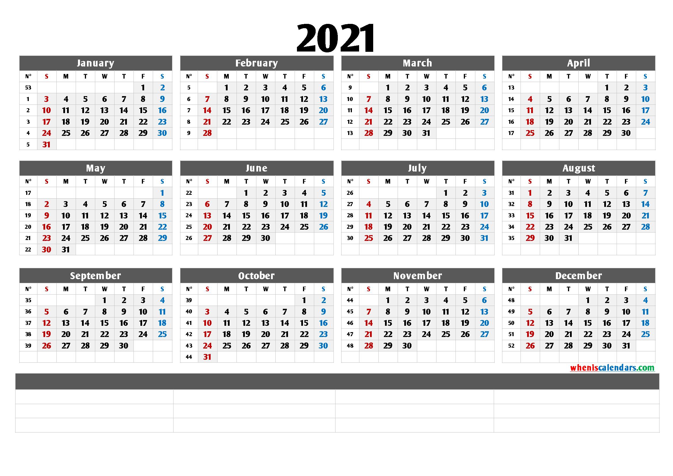 Free Cute Printable Calendar 2021 [Premium Templates ...