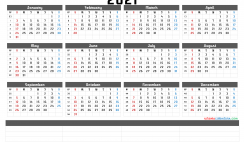 Free Printable 2021 Yearly Calendar