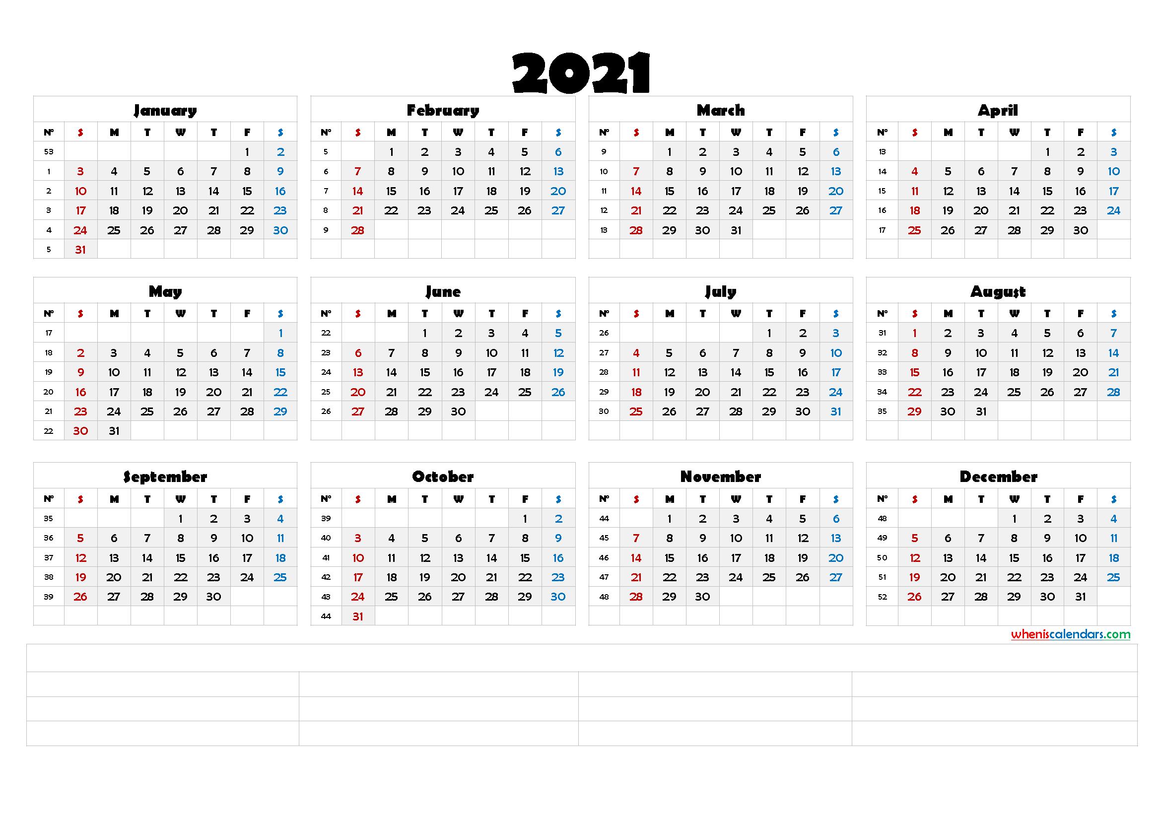 Photos of 2021 Calendar Overview