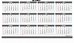Free Printable 2021 Calendar by Year