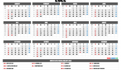 Free 2022 Printable Yearly Calendar