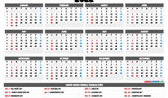 Free 2022 Yearly Calendar Printable