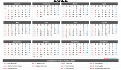 Free Printable Calendar 2022 PDF