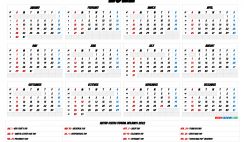 2022 Calendar with Week Numbers
