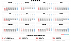 Free Printable 2022 Calendar with Holidays US