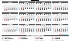 Printable 2022 Calendar with Week Numbers