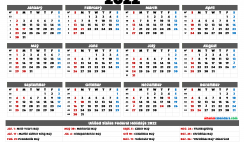 Printable Calendar 2022 with Holidays