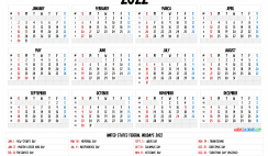 Free 2022 Printable Calendar with Week Numbers
