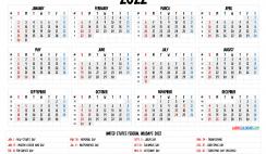 Free Printable Caldendars 2022