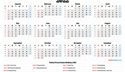 Free 2022 Calendar Printable with Holidays