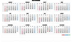 Printable 2022 Calendar with Week Numbers