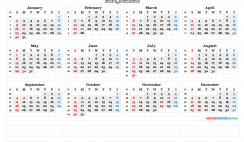 Printable 2022 Calendar by Year