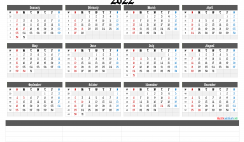 Free Printable 2022 Calendar by Year