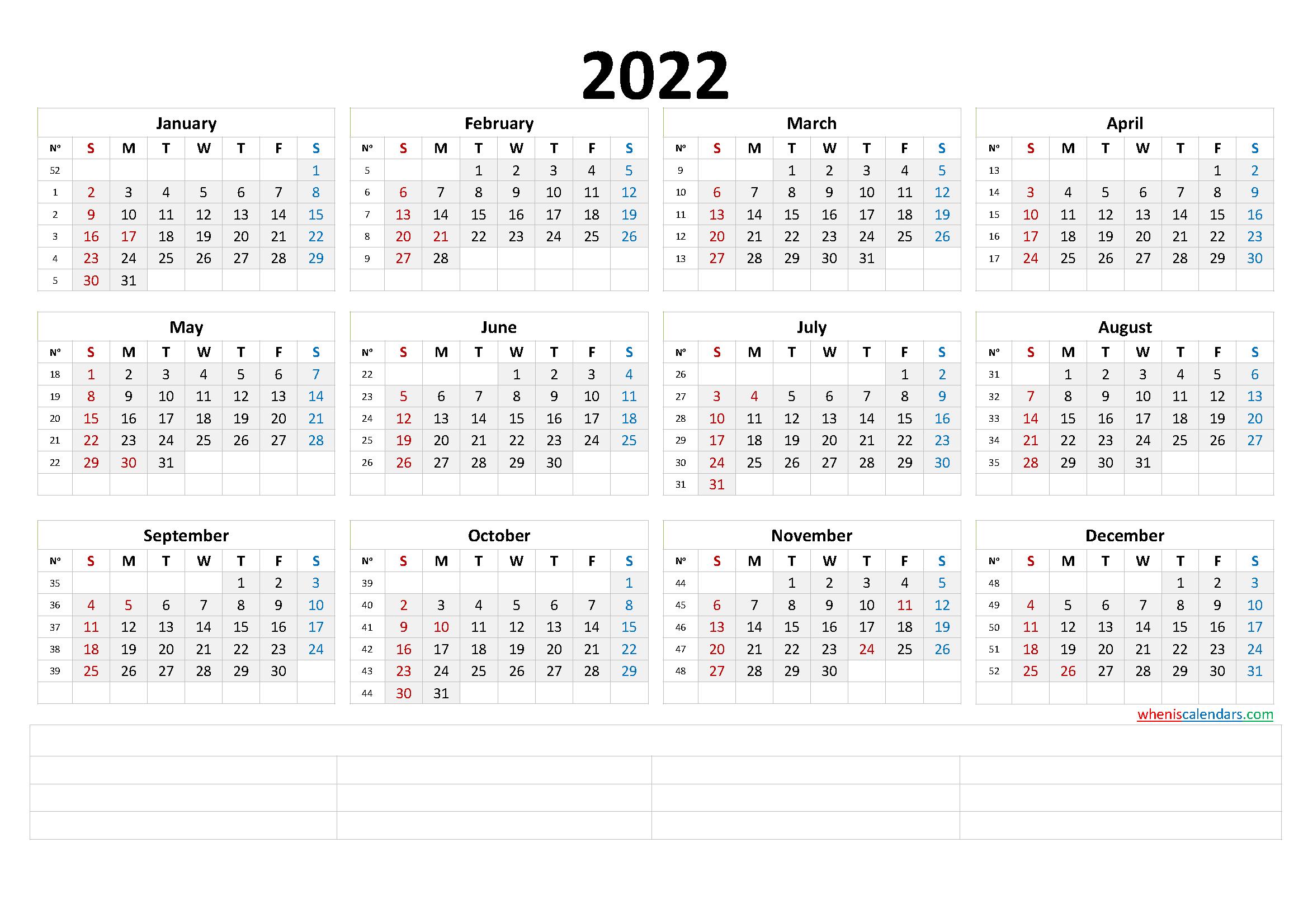 2022 Annual Calendar.2022 Annual Calendar Printable Premium Templates Free Printable 2021 Monthly Calendar With Holidays