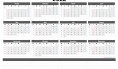 Free Cute Printable Calendar 2022