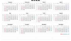Printable 2022 Calendar Templates