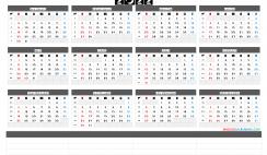 Printable 2022 Yearly Calendar with Week Numbers
