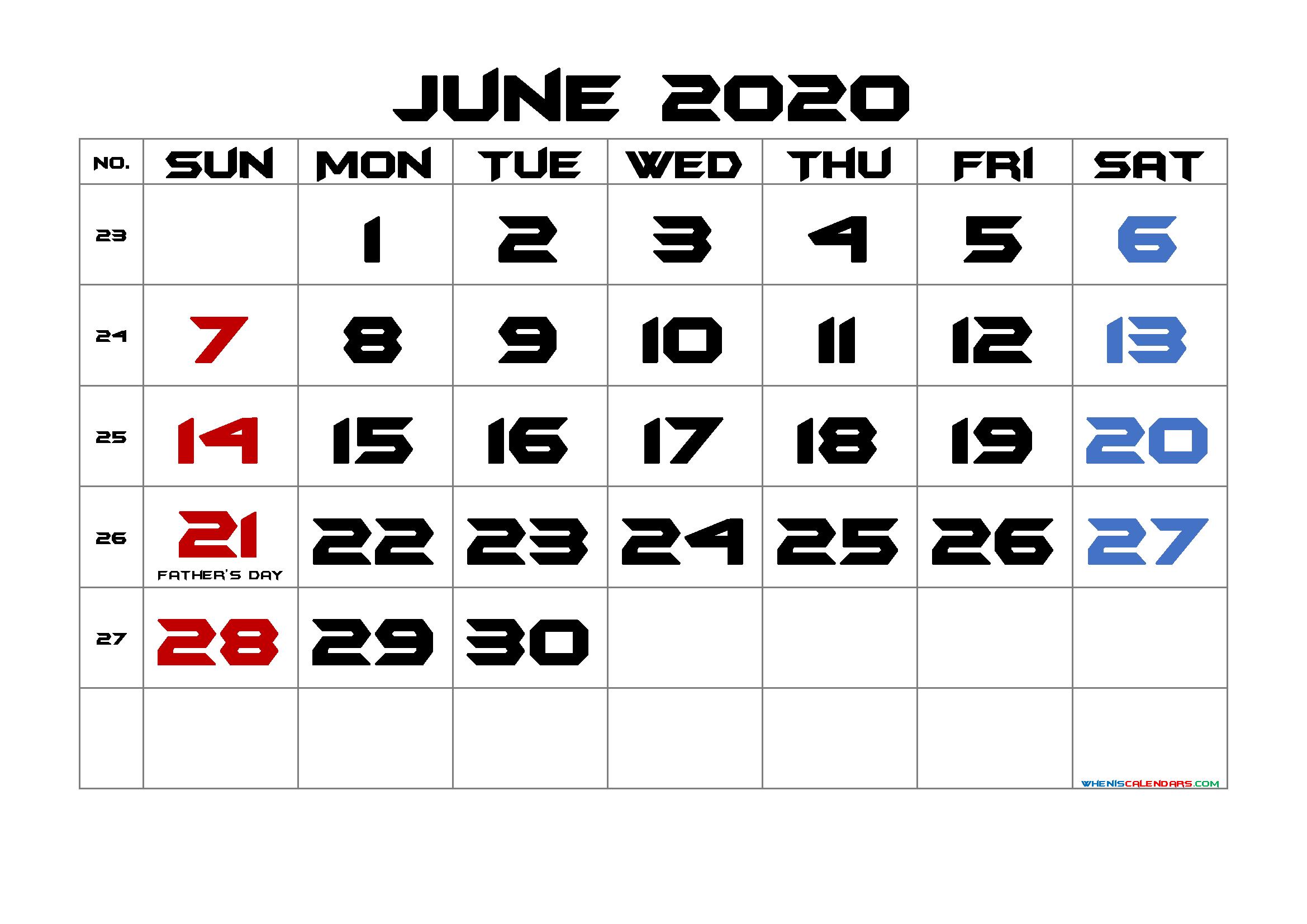 2020 Calendar 2021 Printabe