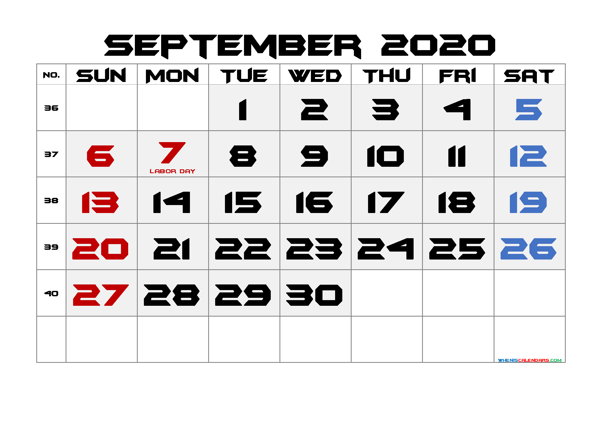 Printable 2020 2021 Calendar with Holidays