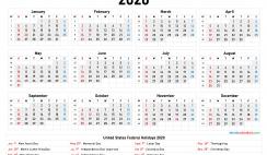 Printable Calendar 2020 pdf