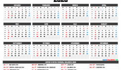 2020 Calendar with Week Numbers Printable