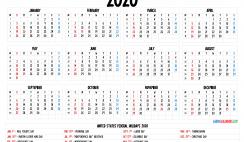 Free Printable 2020 Calendar