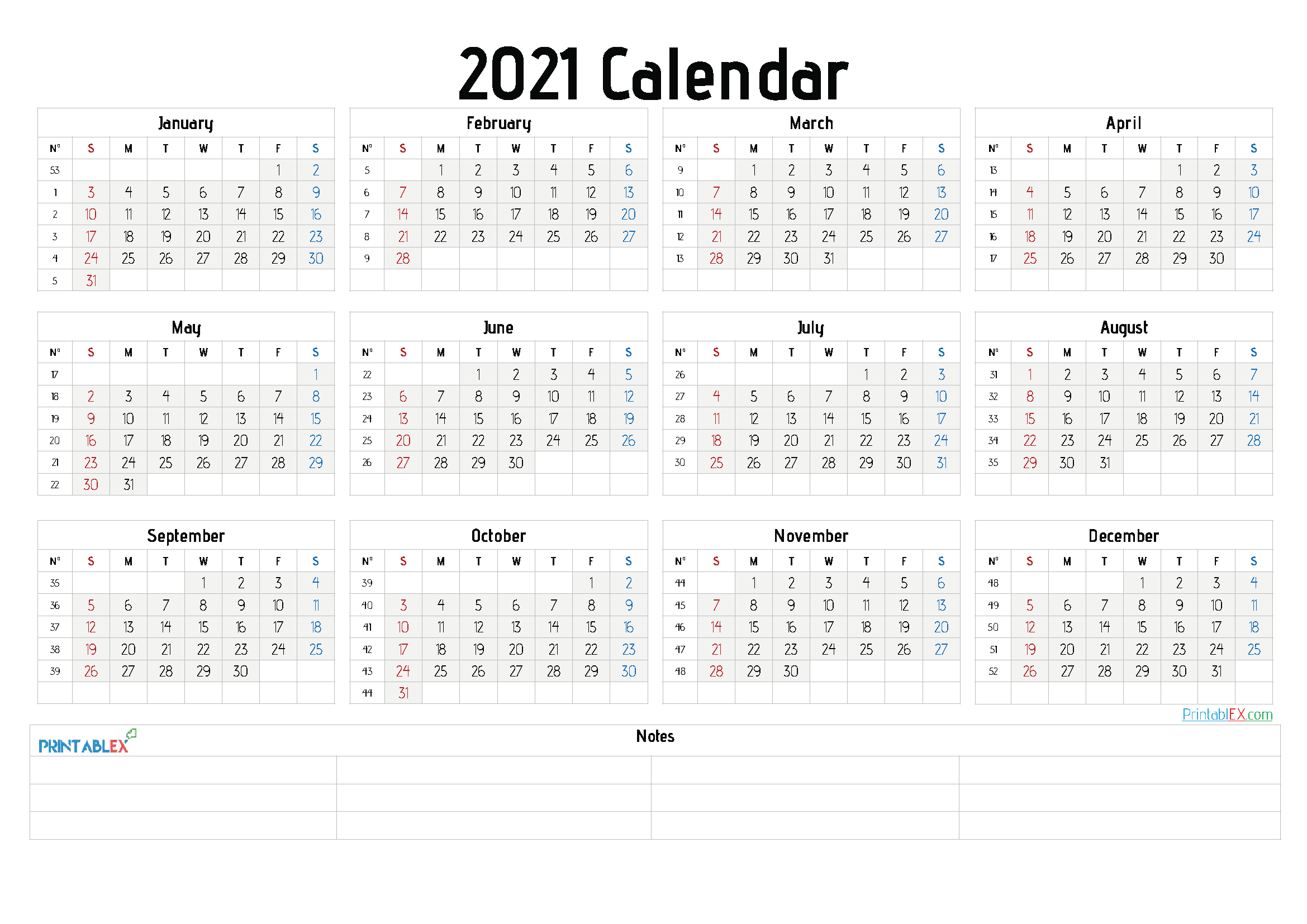 2021 Calendar Templates Editable By Word / Free Google ...