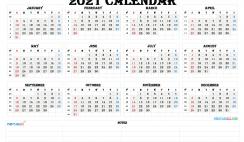Printable Calendar Templates 2021