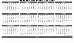 2021 Calendar with Week Numbers Printable