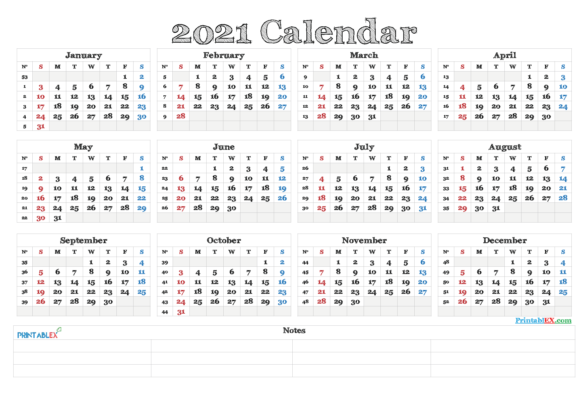 Timeanddate Com Time And Date Calendar 2021 Printable ...