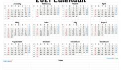 Printable 2021 Calendar by Month