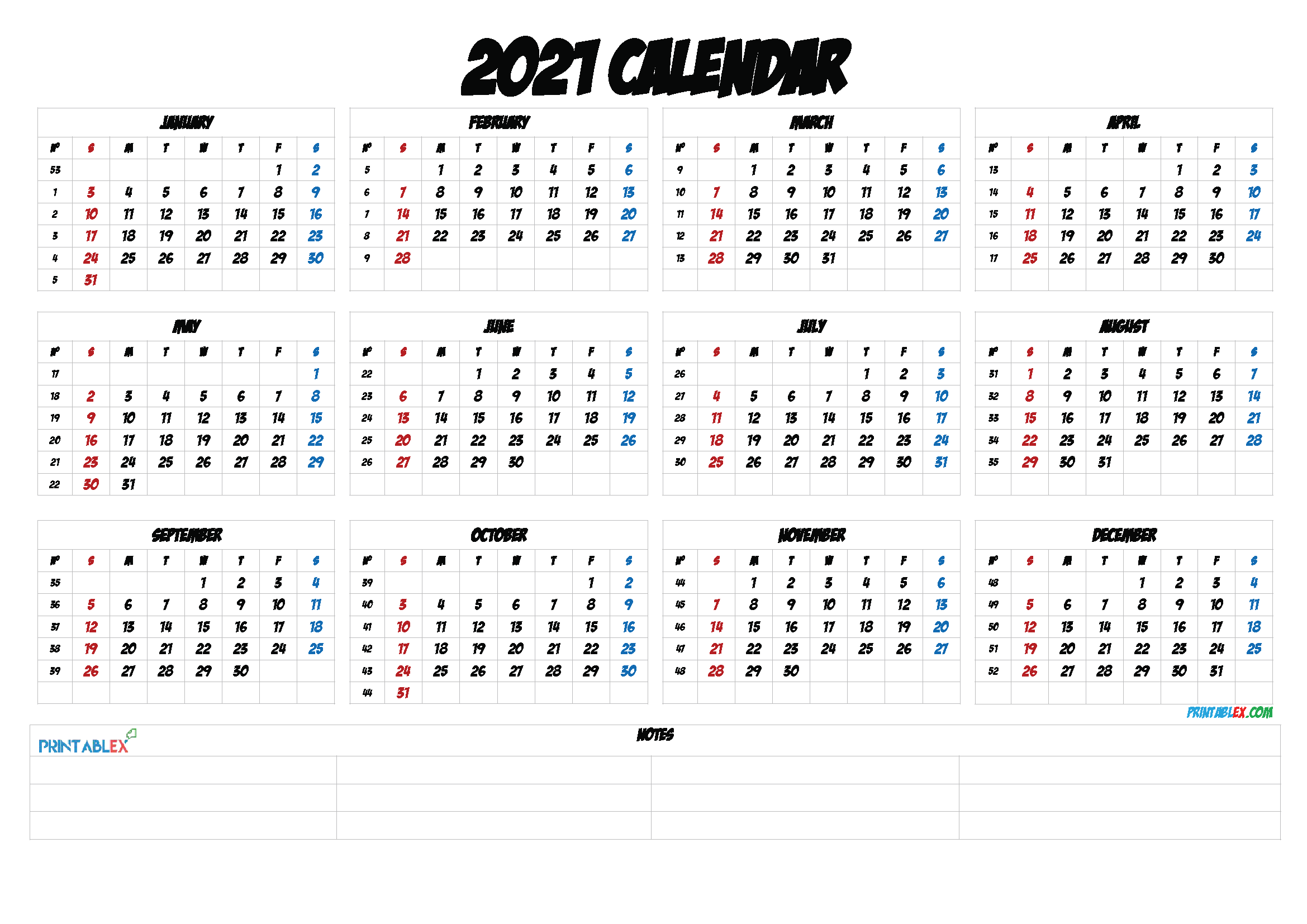 Calendar With Weeks Of The Year 20