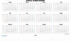 Free Printable Calendar Templates 2021