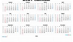 Free Printable 2021 Calendar by Month