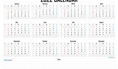 Free Printable 2022 Calendar by Year