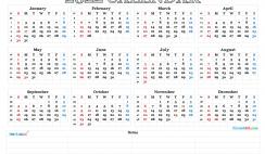 2022 Calendar with Week Numbers Printable