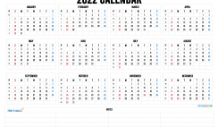 Free Printable 2022 Calendar by Month