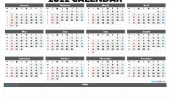 Cute Printable Calendar 2022