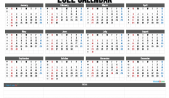 2022 Printable Yearly Calendar with Week Numbers