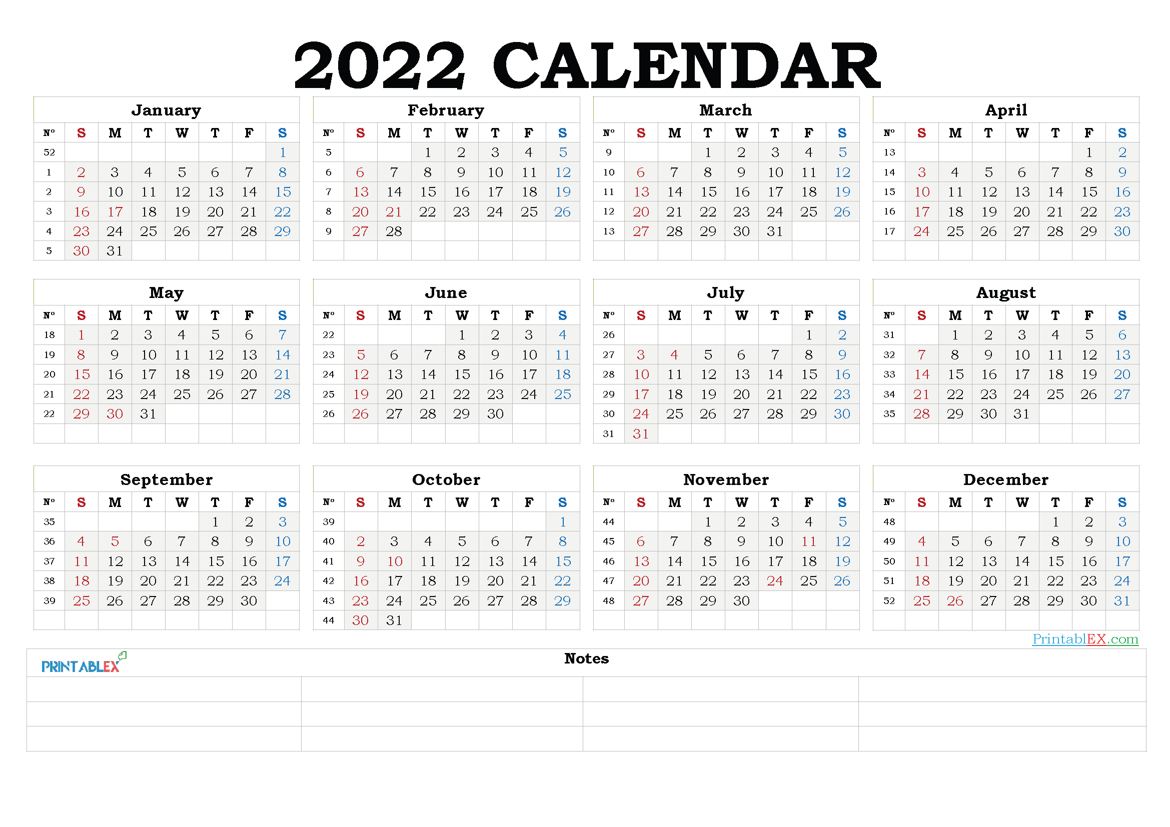 2022 Calendar Template For Word.2022 Free Yearly Calendar Template Word 2021 Free Printable