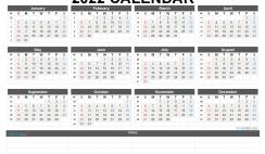 Free Printable 2022 Yearly Calendar with Week Numbers