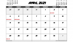 April 2021 Calendar Australia with Holidays