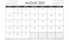 August 2021 Calendar Australia with Holidays