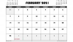 Free February 2021 Calendar Australia Printable